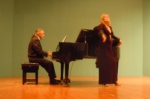 Demet George Mustafaoğlu with Rauf Kasımov on the piano.